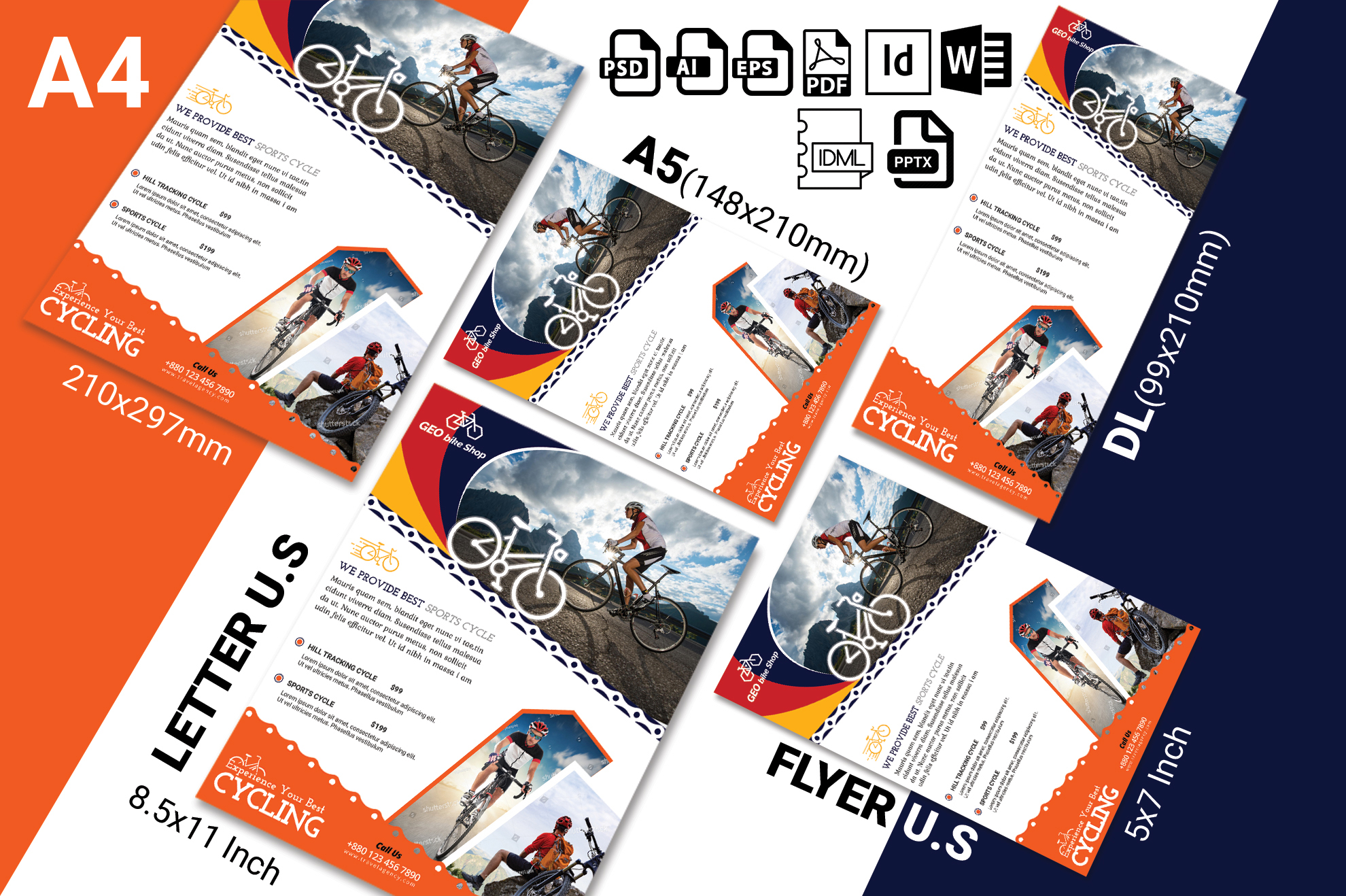 Cycle Shop Flyer Template Vol-02 example image 2