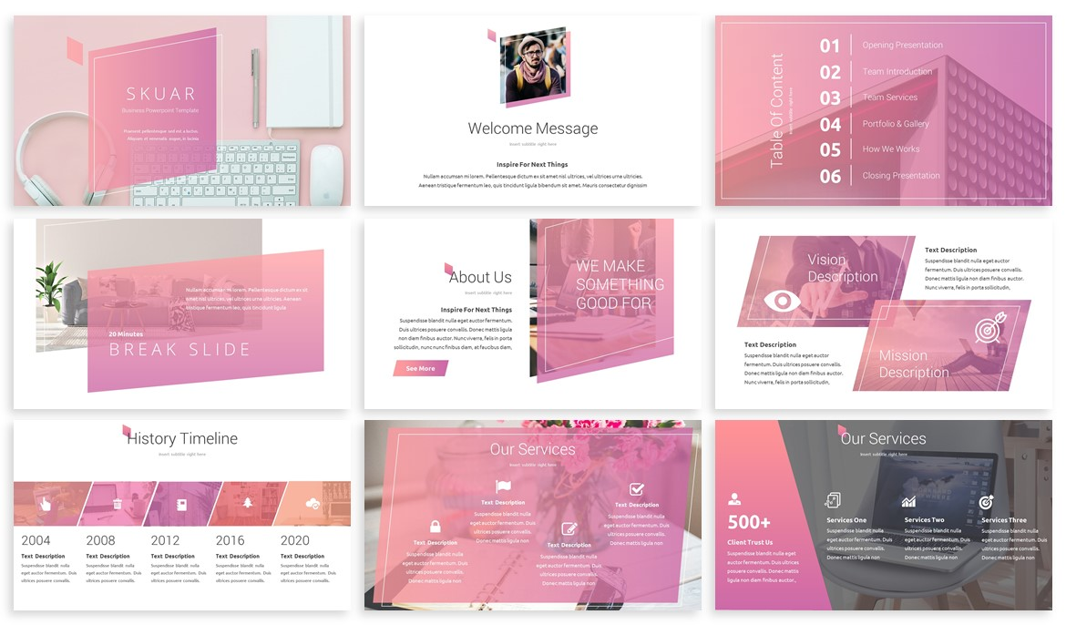 Skuar - Pastel Powerpoint Template example image 2