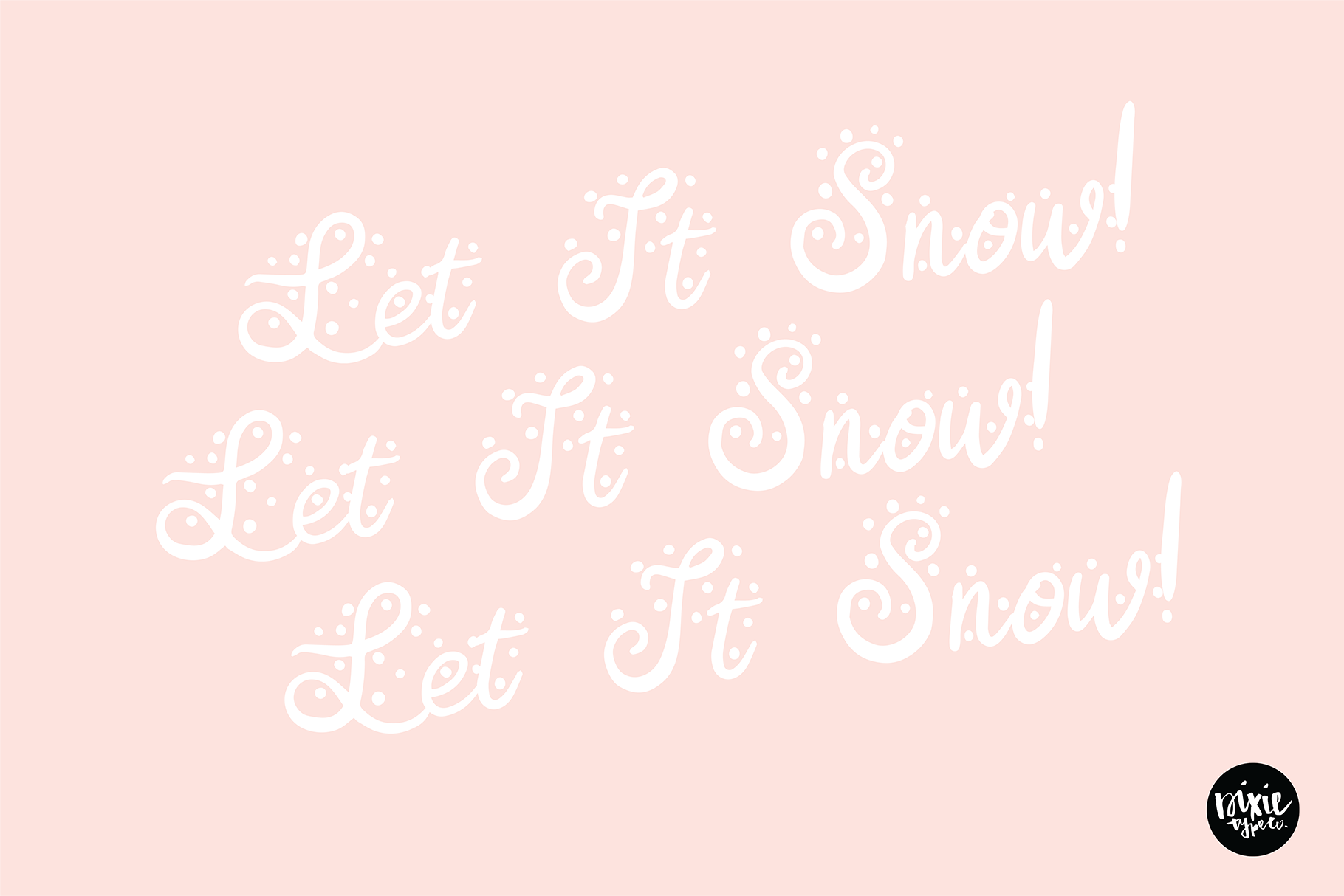 CHRISTMAS FONT BUNDLE - 4 Hand Lettered Christmas Fonts example image 5