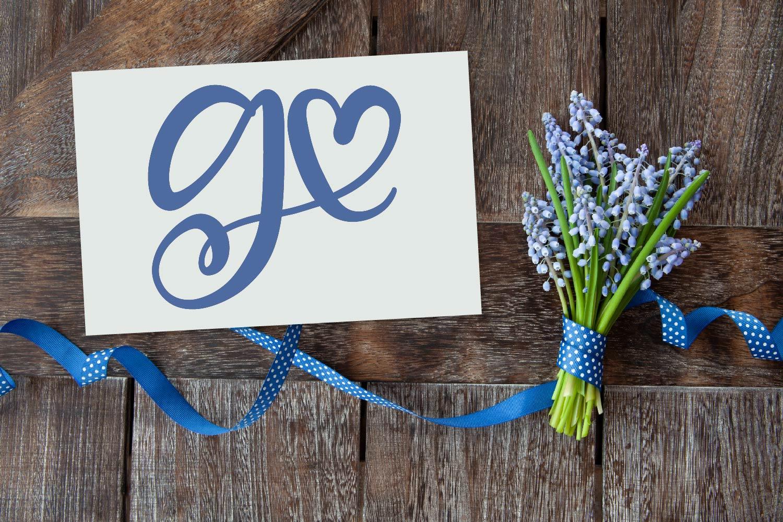 Heart Monogram Font - With Bonus Frame Font! example image 7