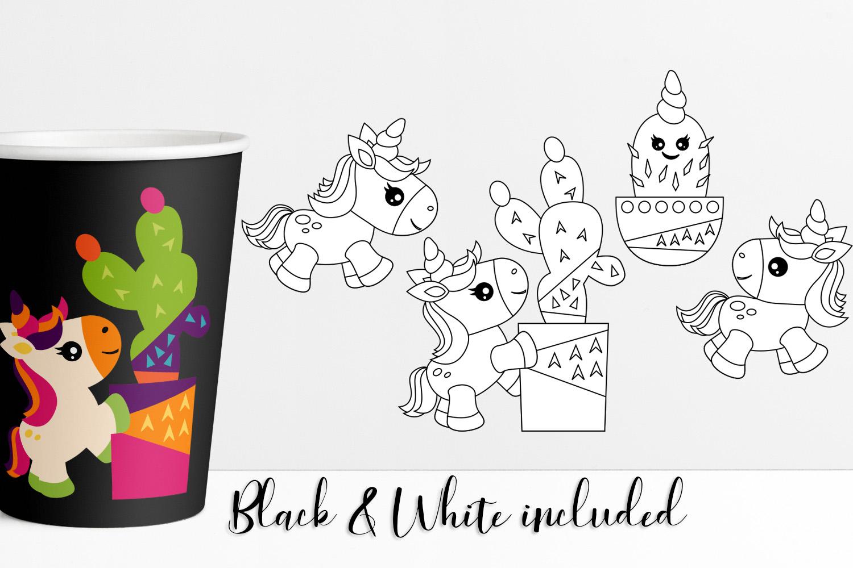 Summer Unicorn Clip art Illustrations example image 2