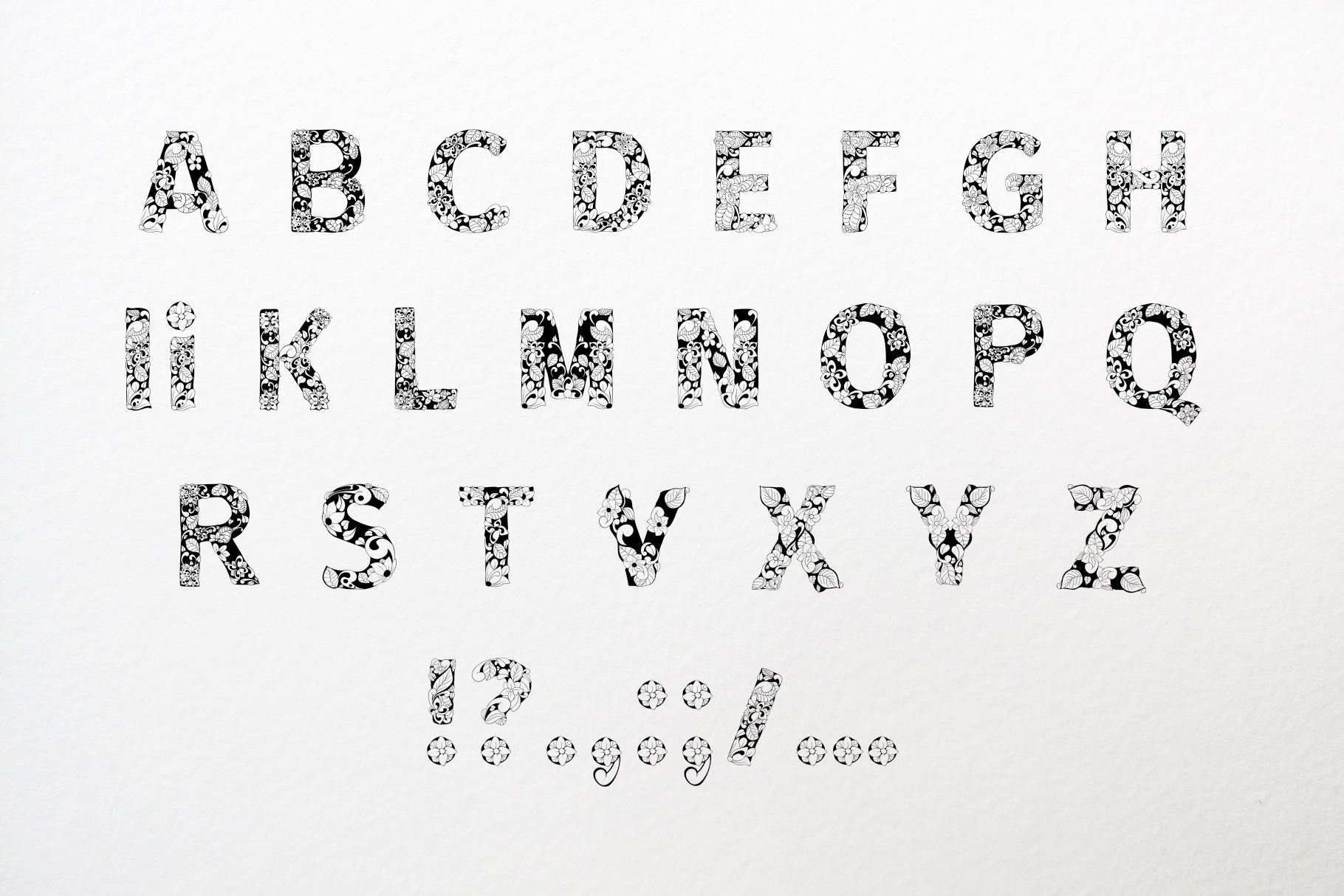 Batik India Black Font example image 4