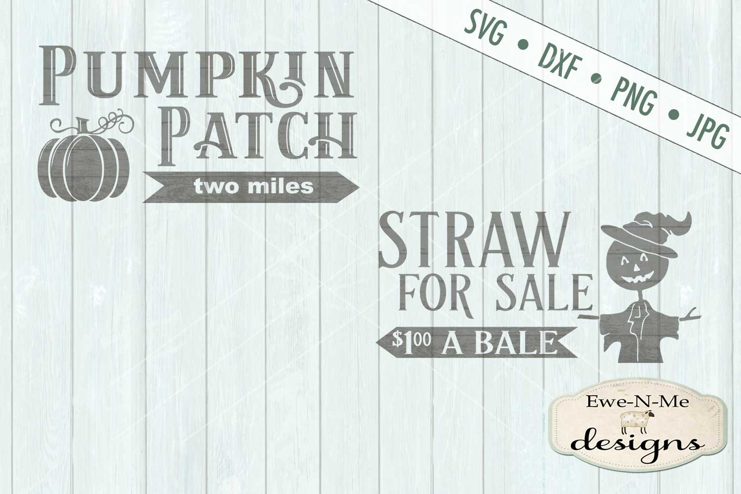 Pumpkin Patch Straw For Sale Scarecrow SVG DXF Files example image 2