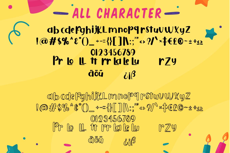 Puresity Burbon | Playful Layered Font example image 6