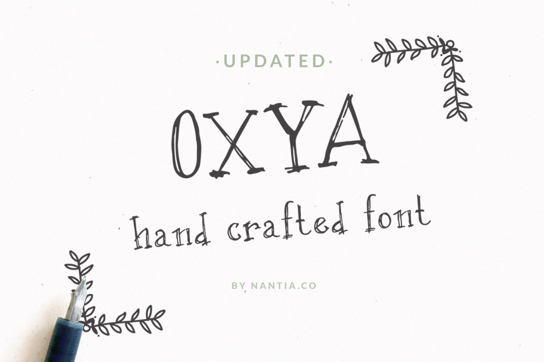 OXYA | Hand crafted Font example image 1