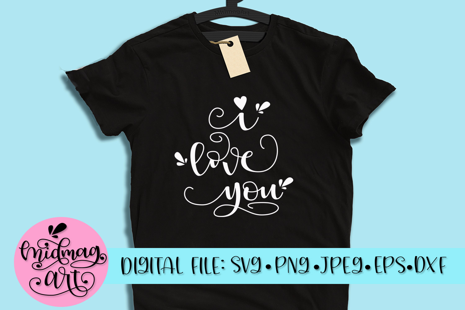 I love you svg, png, jpeg, eps and dxf example image 1