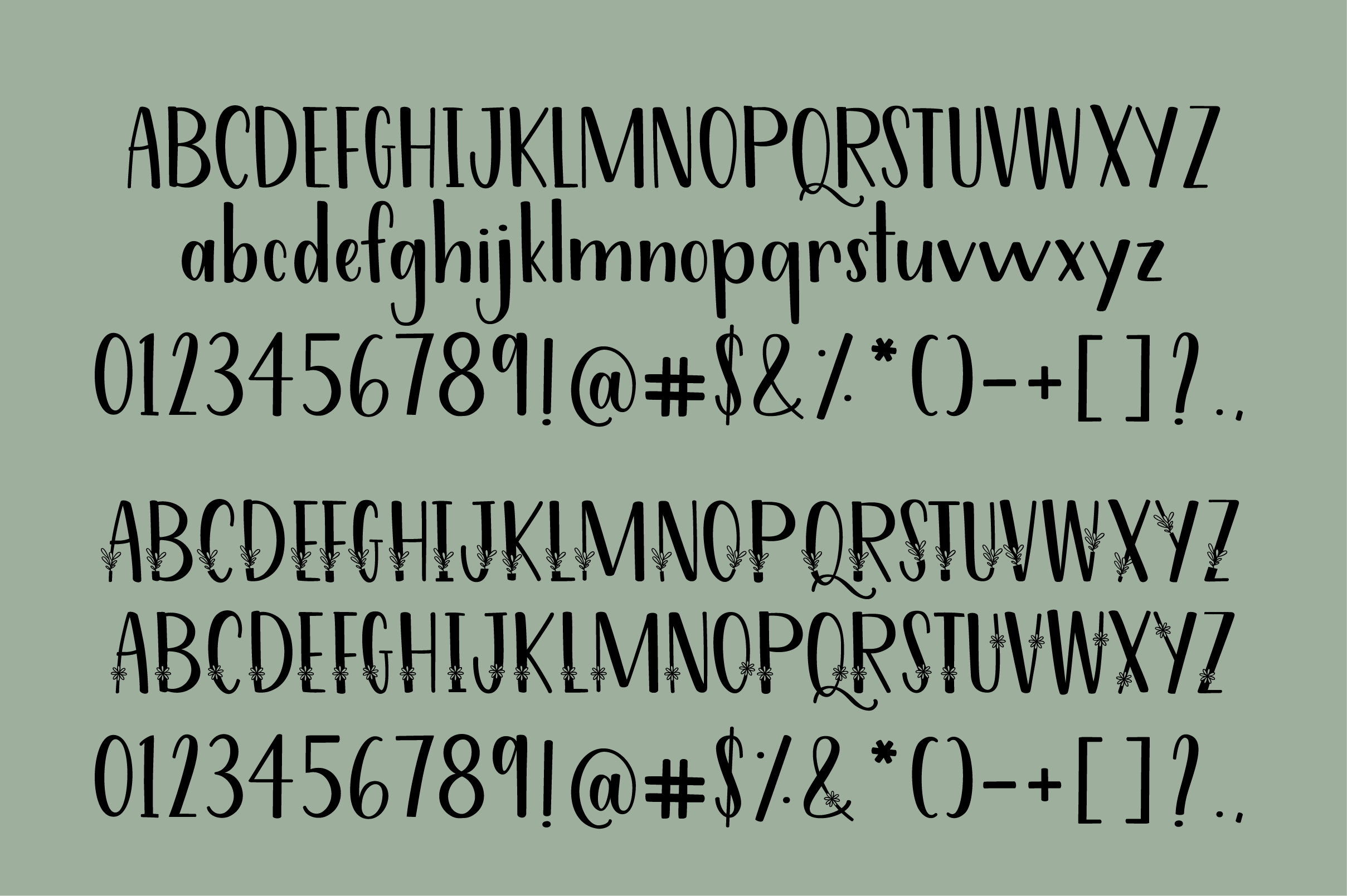 Filler Foliage - A Happy Font Duo example image 6