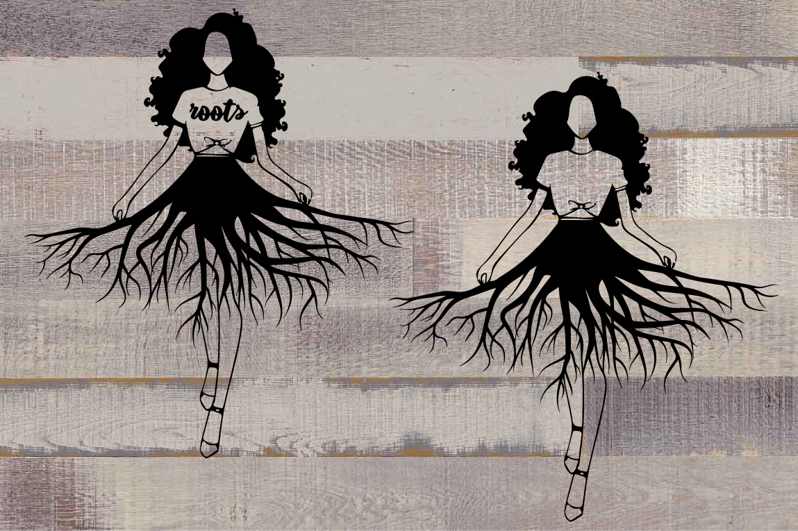 Black woman svg black woman and educated svg deep roots example image 2