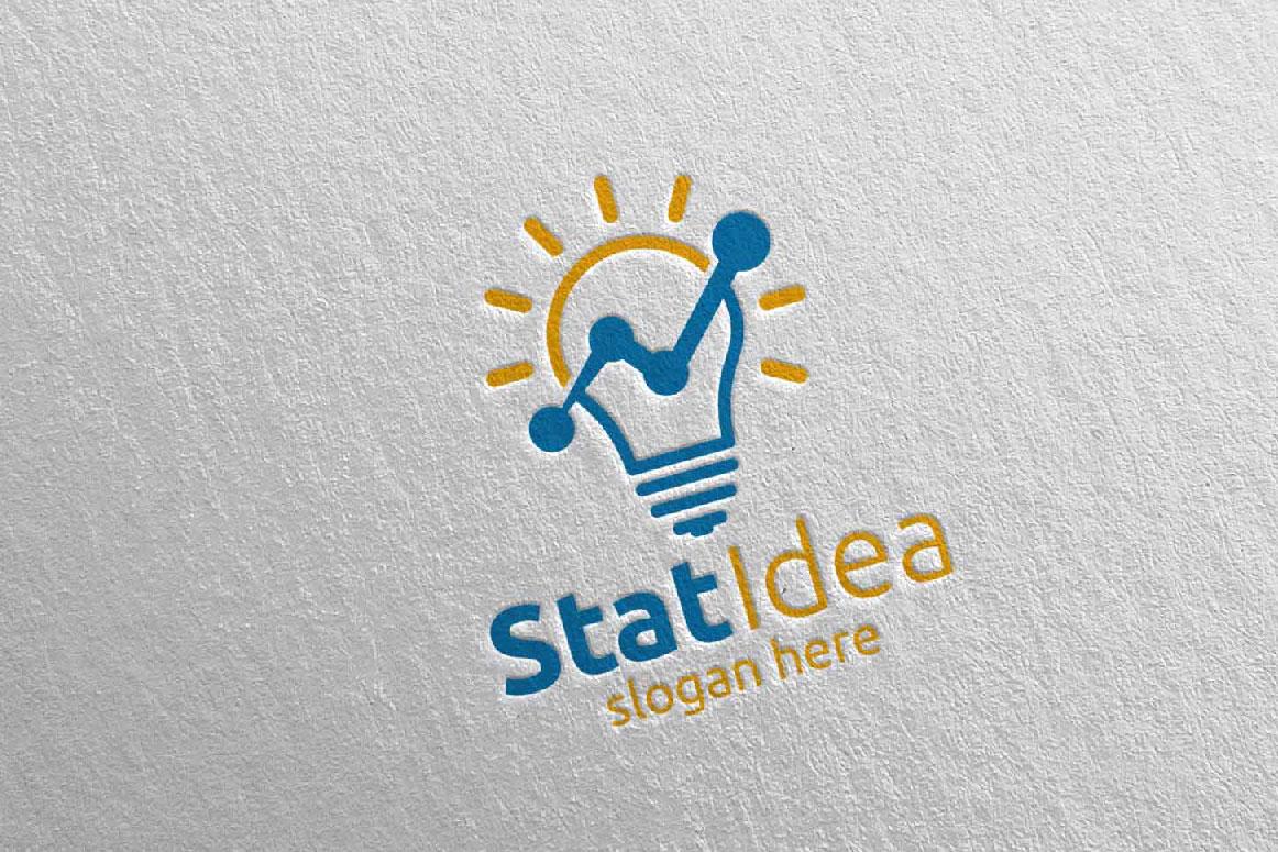 Stat Idea Marketing Financial Advisor Logo Design 16 example image 1