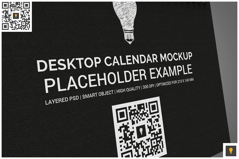 Desktop Calendar Mockup example image 2