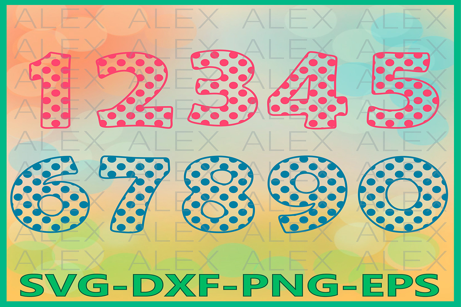 Numbers SVG Files, Numbers Svg, Dxf, Png, Ai File example image 1