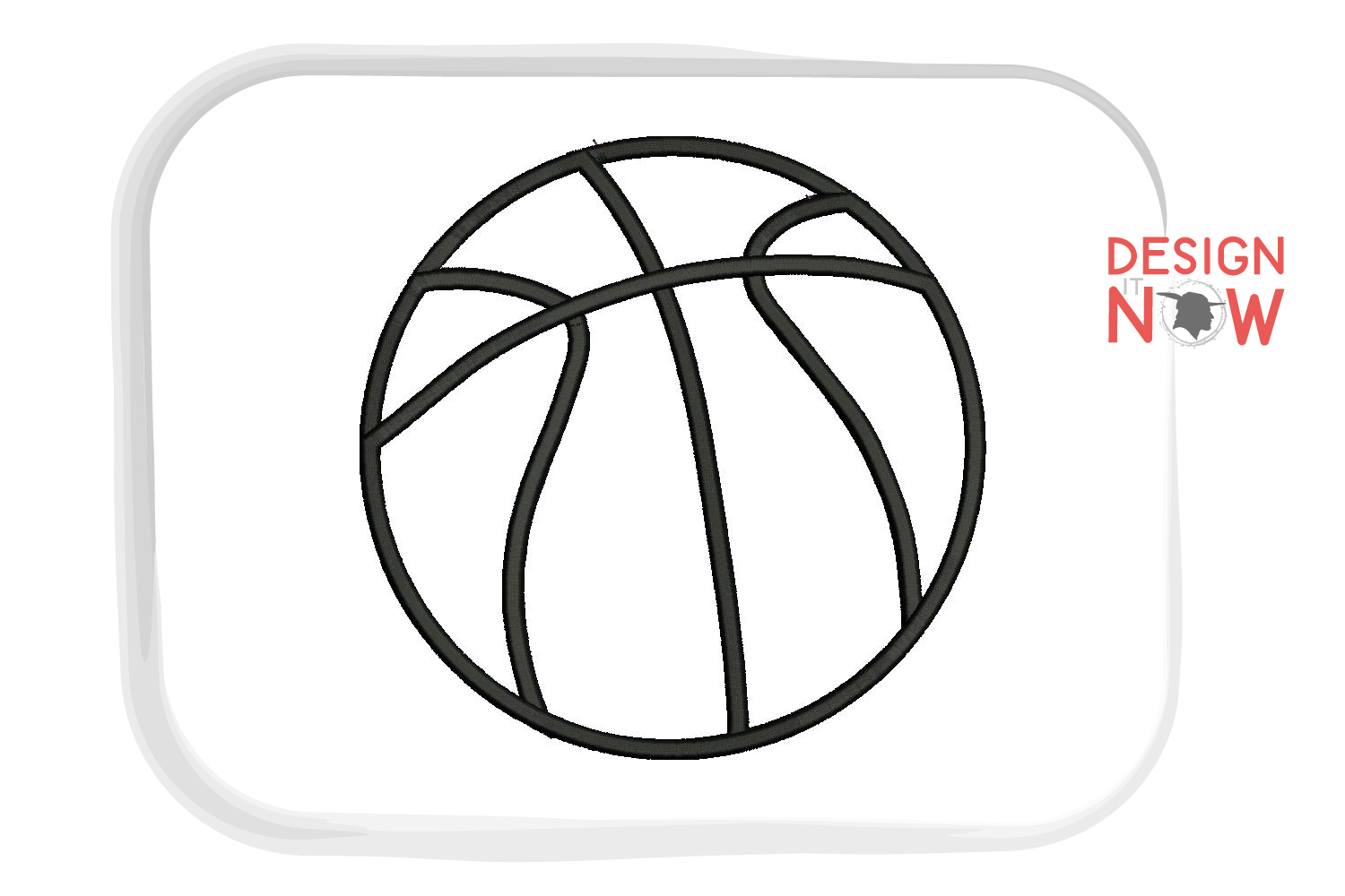 Basketball Applique Design, Sport Embroidery, Ball Applique example image 2