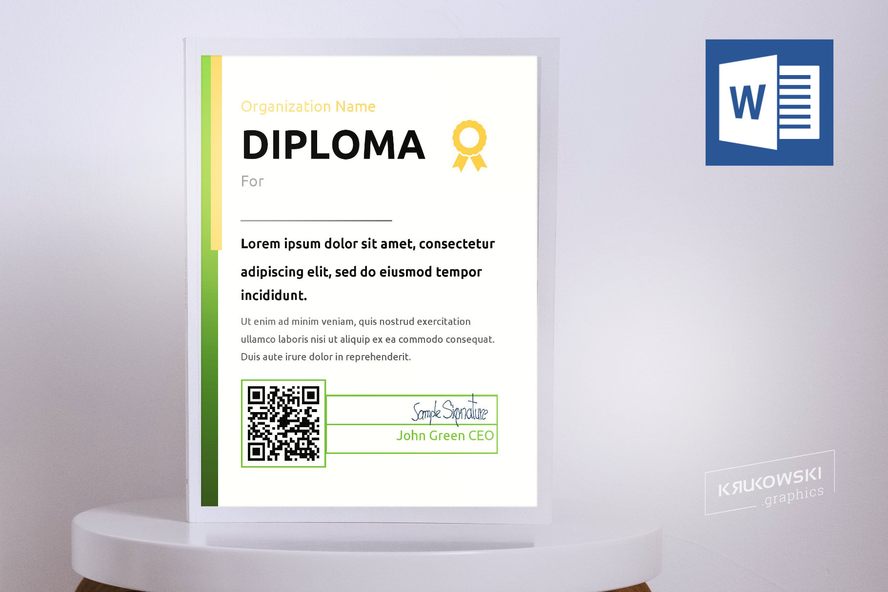10 Diploma Templates .doc Bundle Pack 50 off example image 4