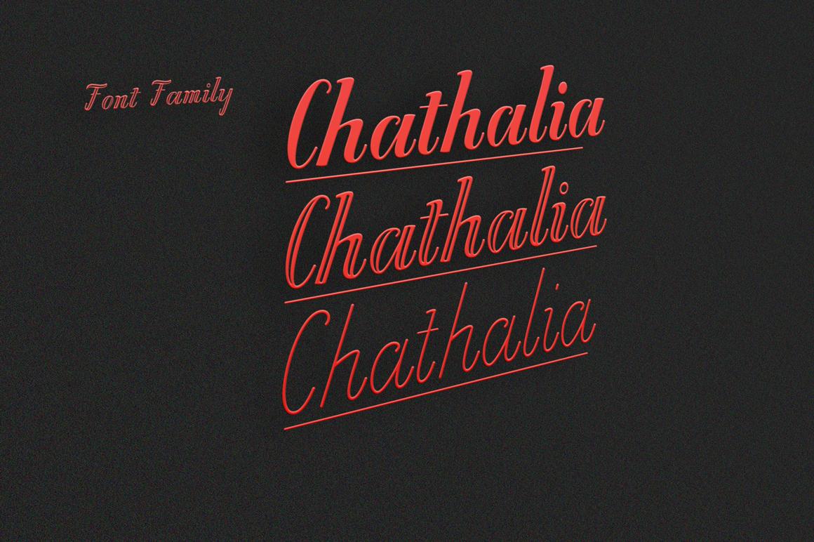 Chathalia Font Family example image 2