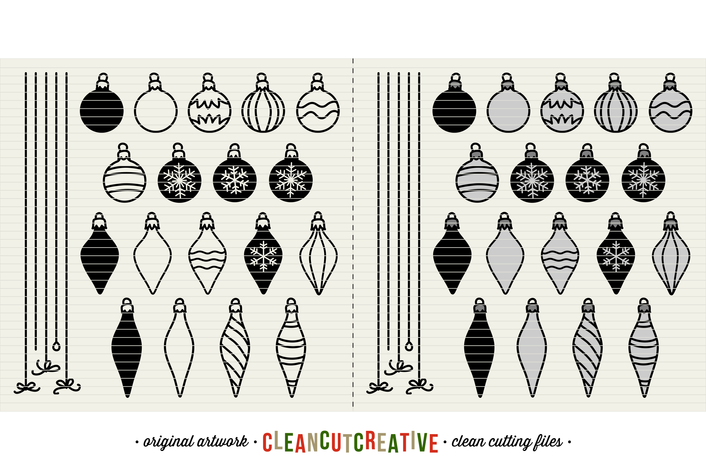 The Crafters Christmas Toolkit - 150+ Christmas Design Elements - SVG DXF EPS - Cricut & Silhouette - clean cutting files example image 4