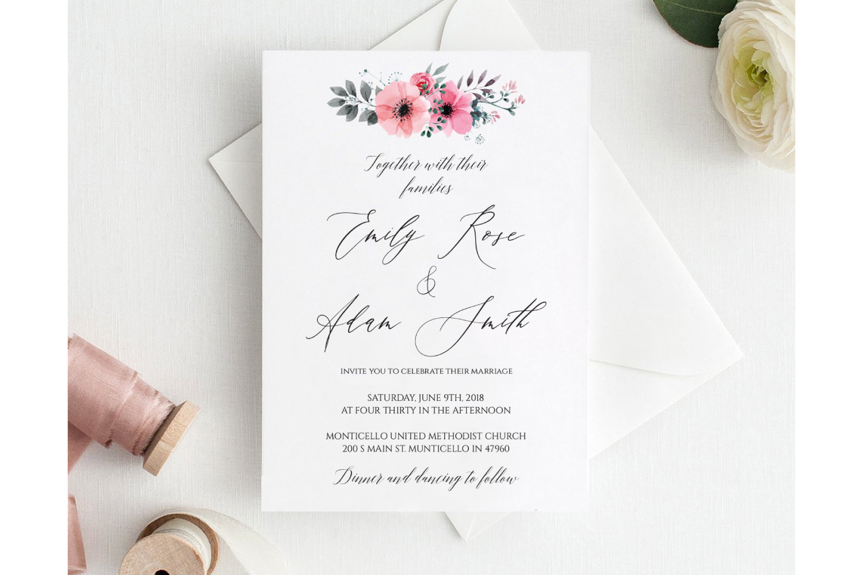 Wedding Invitation Template example image 1