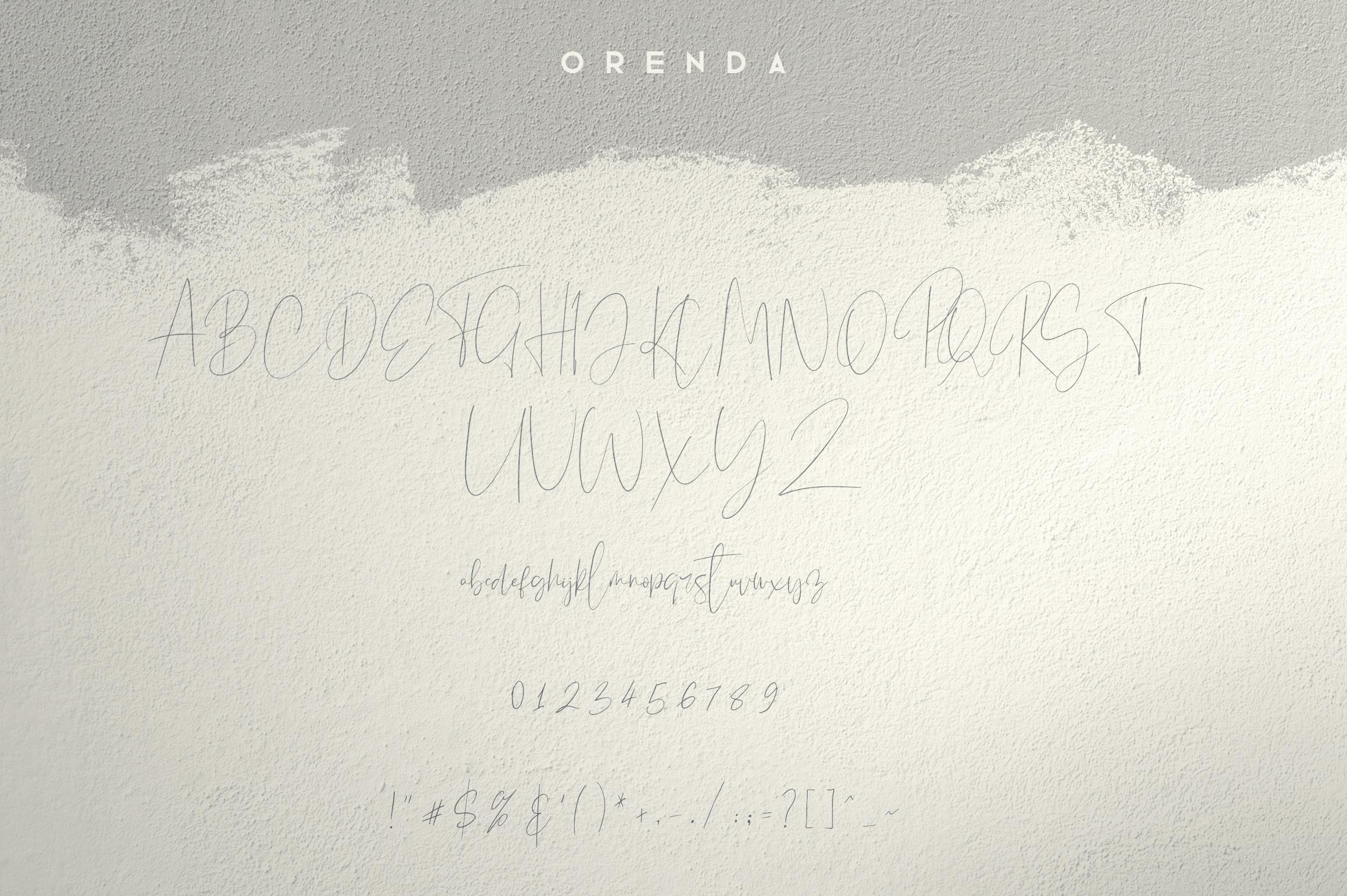Orenda - Script font example image 9