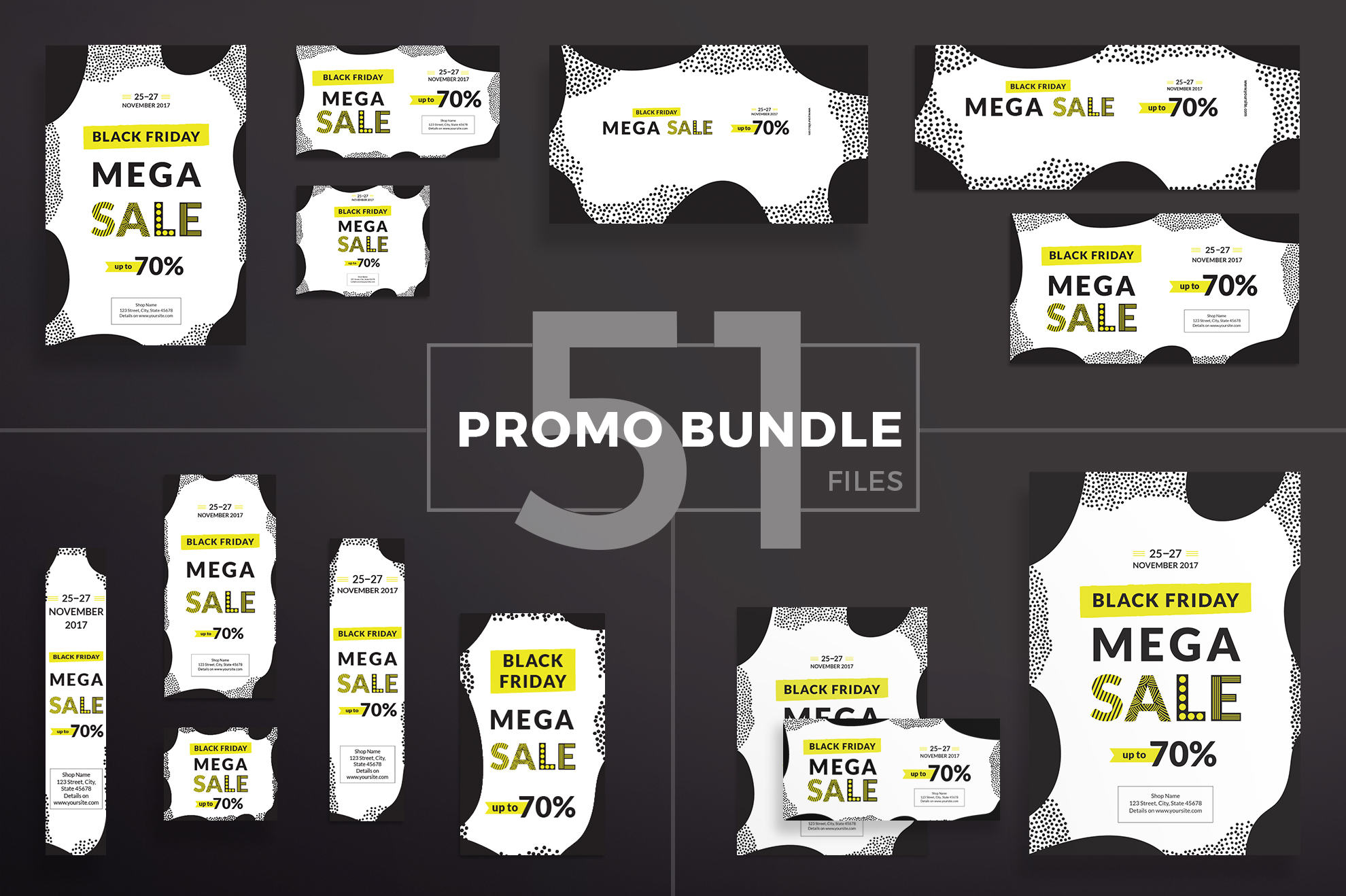 Black Friday Sale Design Templates Bundle example image 1