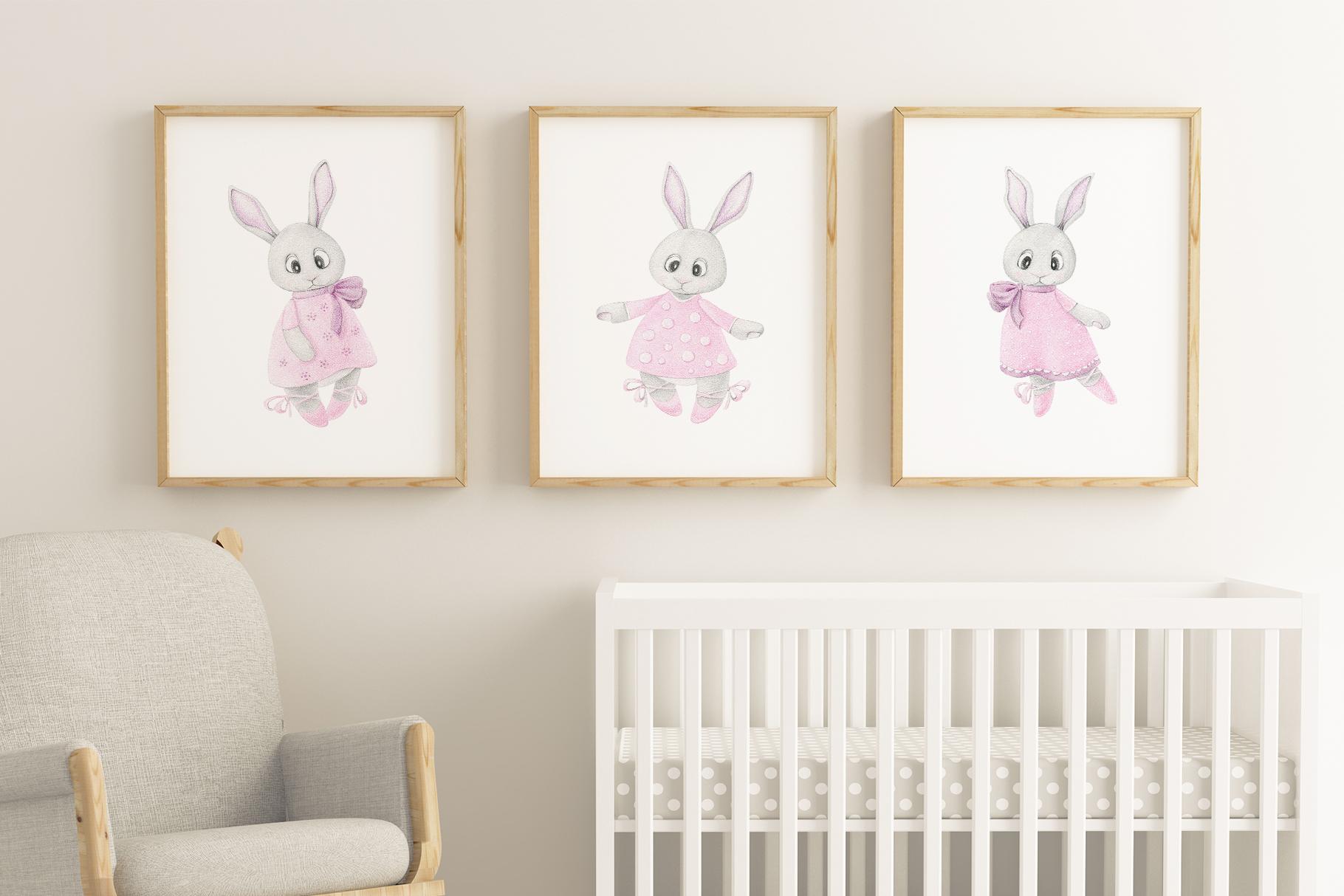 Cute bunny ballet dancer example image 2