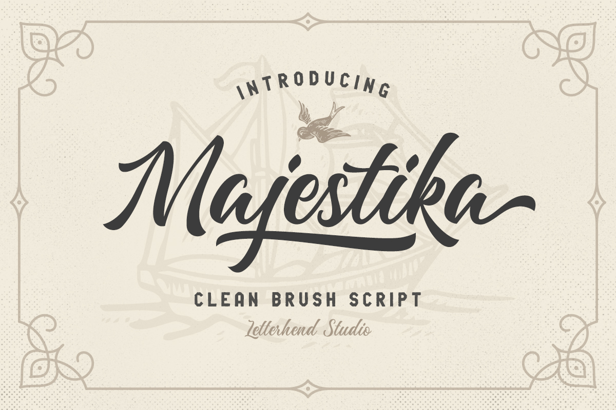 Majestika - Clean Brush Script example image 1