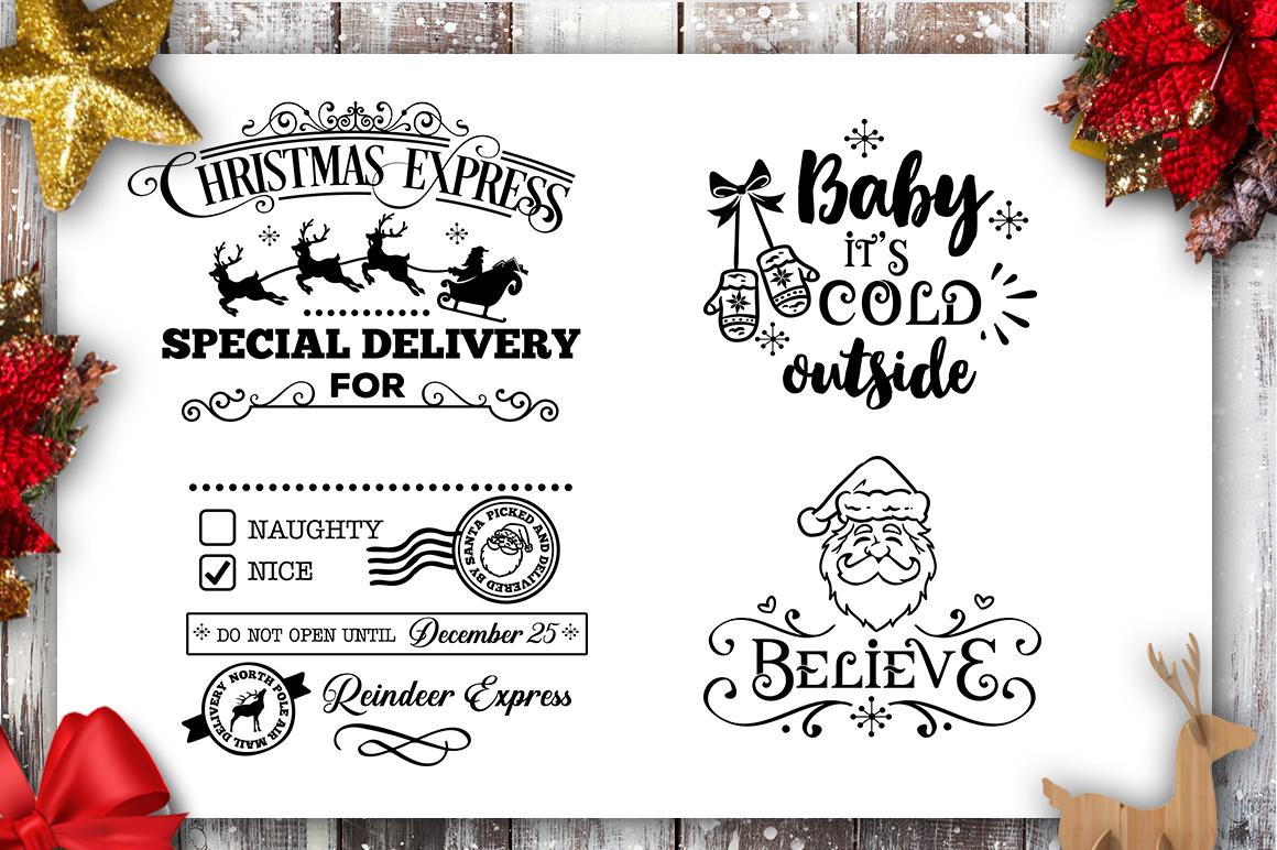 Christmas Bundle SVG bundle 40 designs Winter SVG example image 3