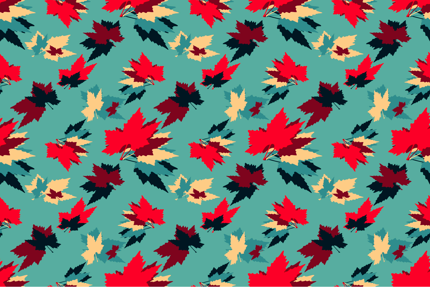 Maple leaves. Seamless pattern. example image 3