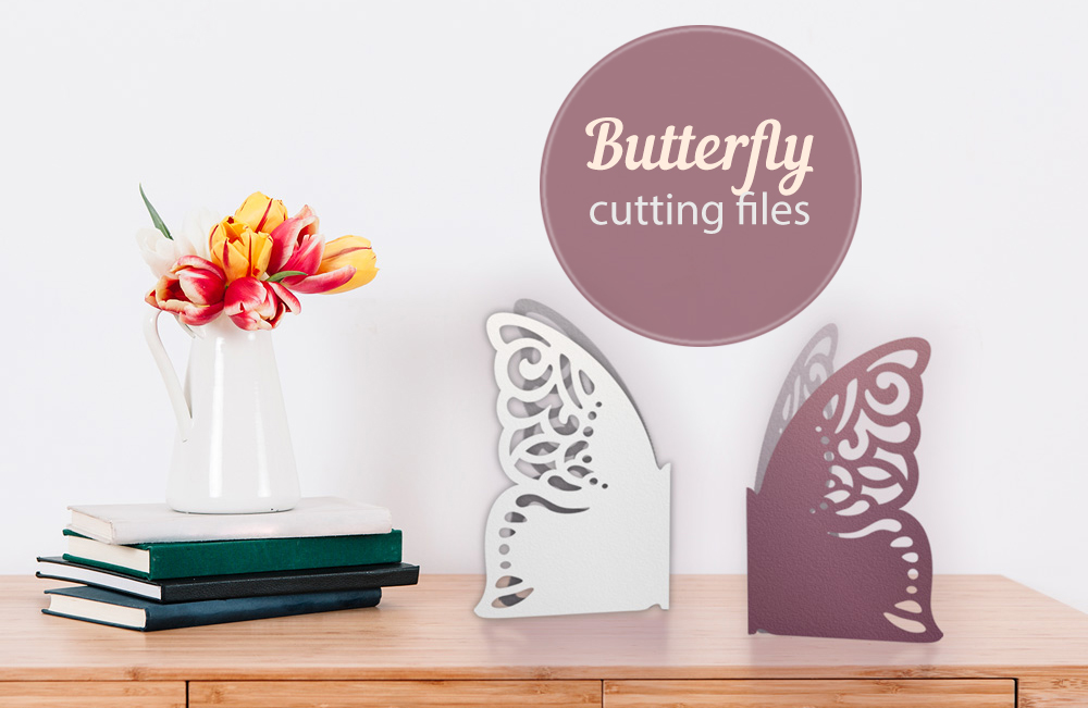 Butterfly papercut tempelate, SVG cutting file example image 3