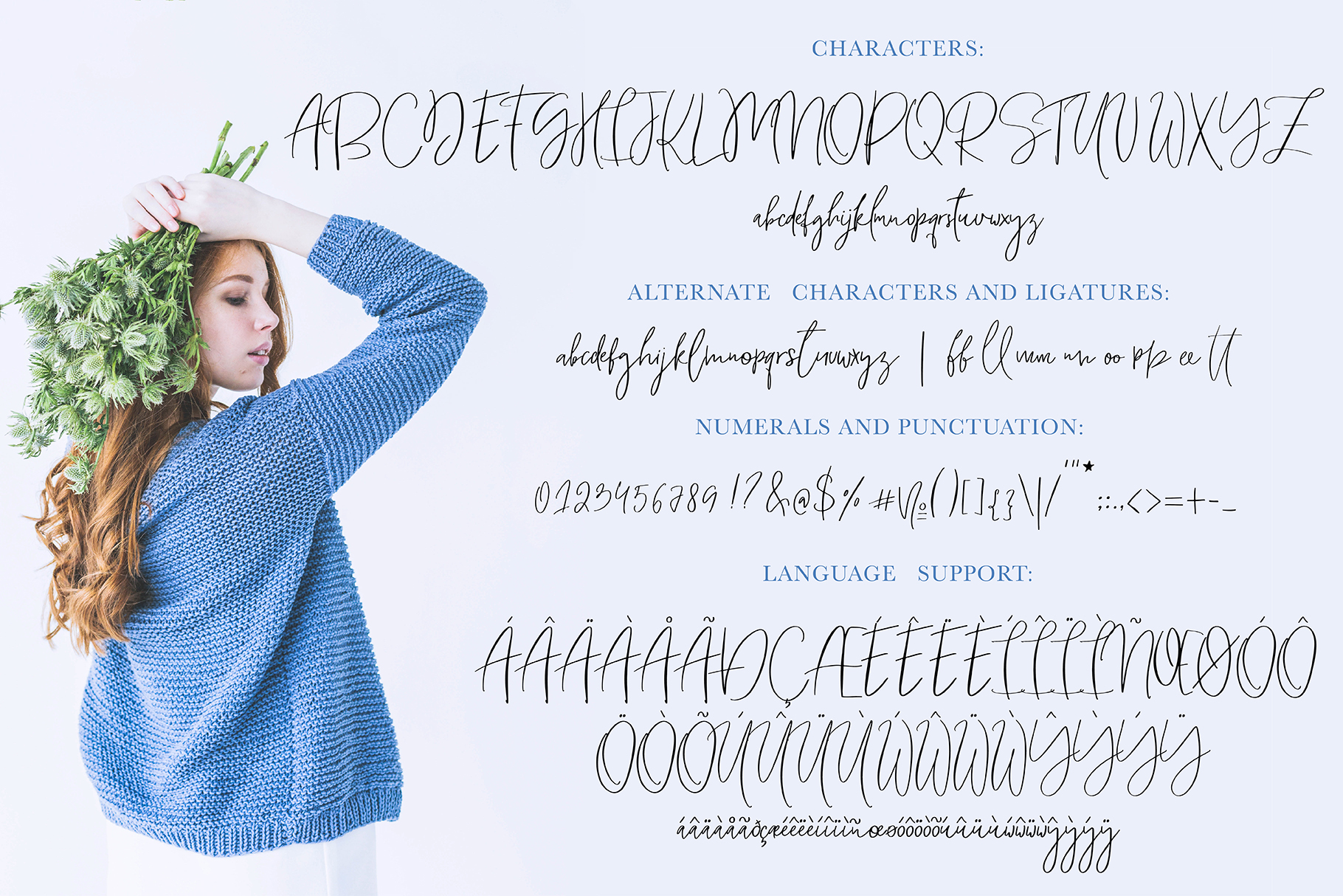Only Yesterday Hand-drawn Font example image 7