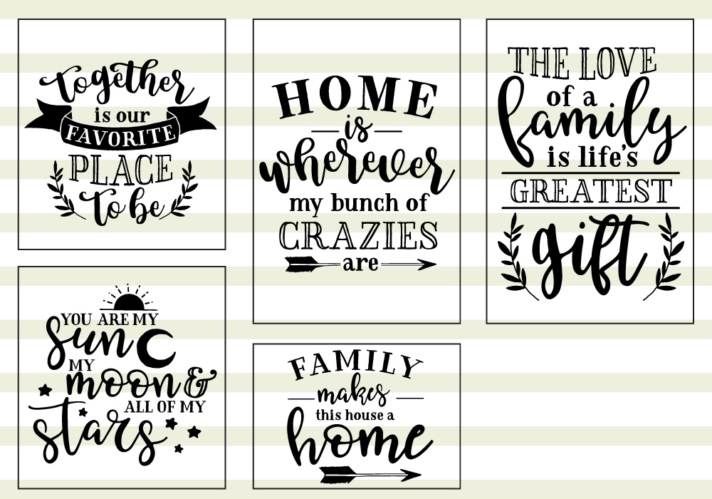 Family Love Quote SVG Cut Files Bundle example image 5
