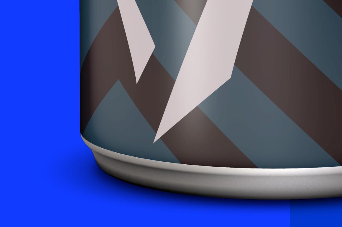 Matte Aluminum Can Mockup 250ml example image 6