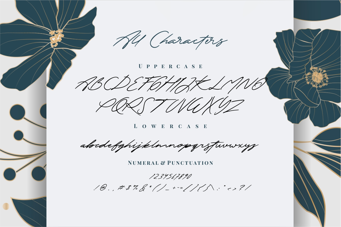 The Excited - Signature Font example image 11