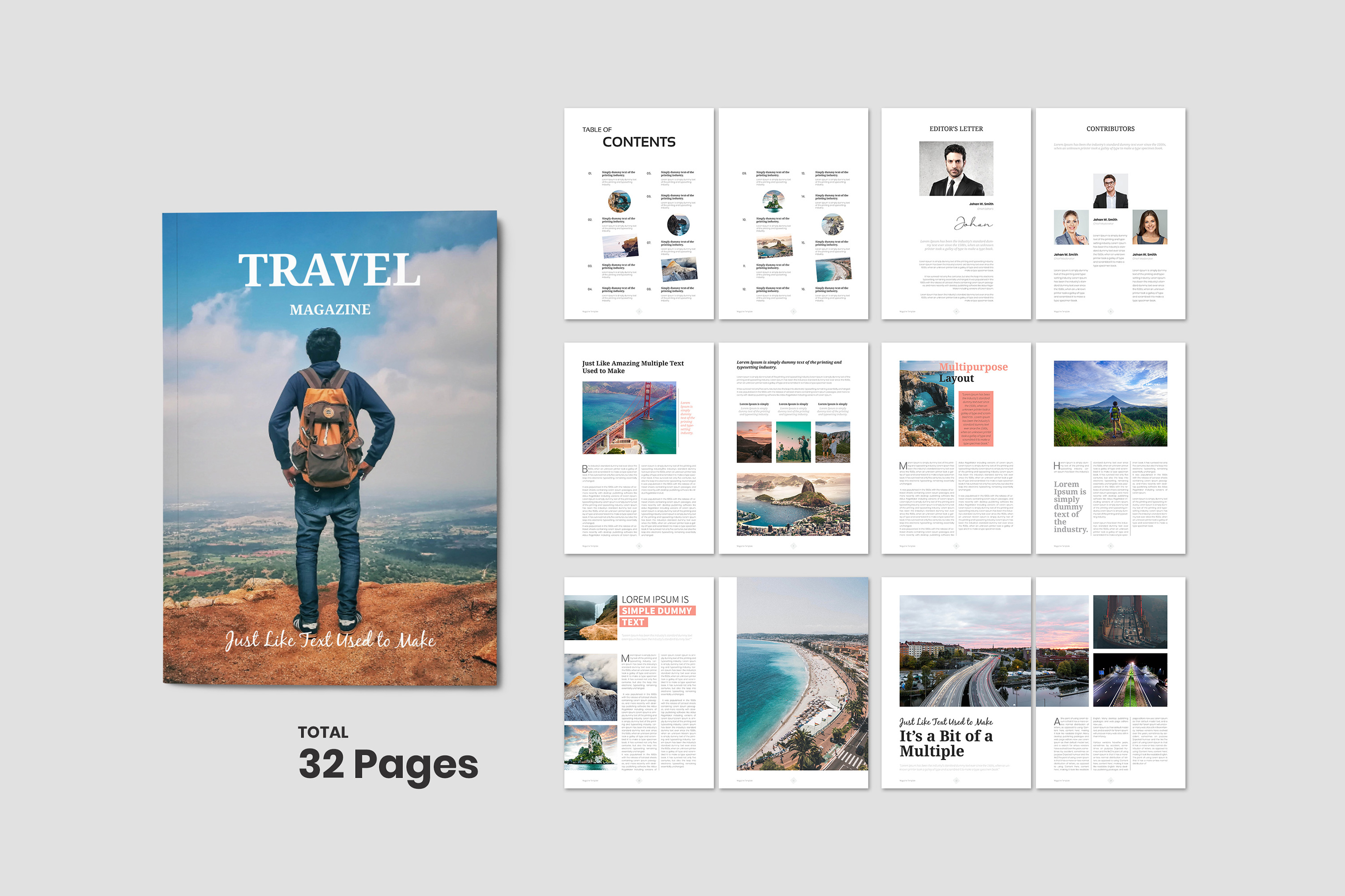 Travel Magazine Template example image 1
