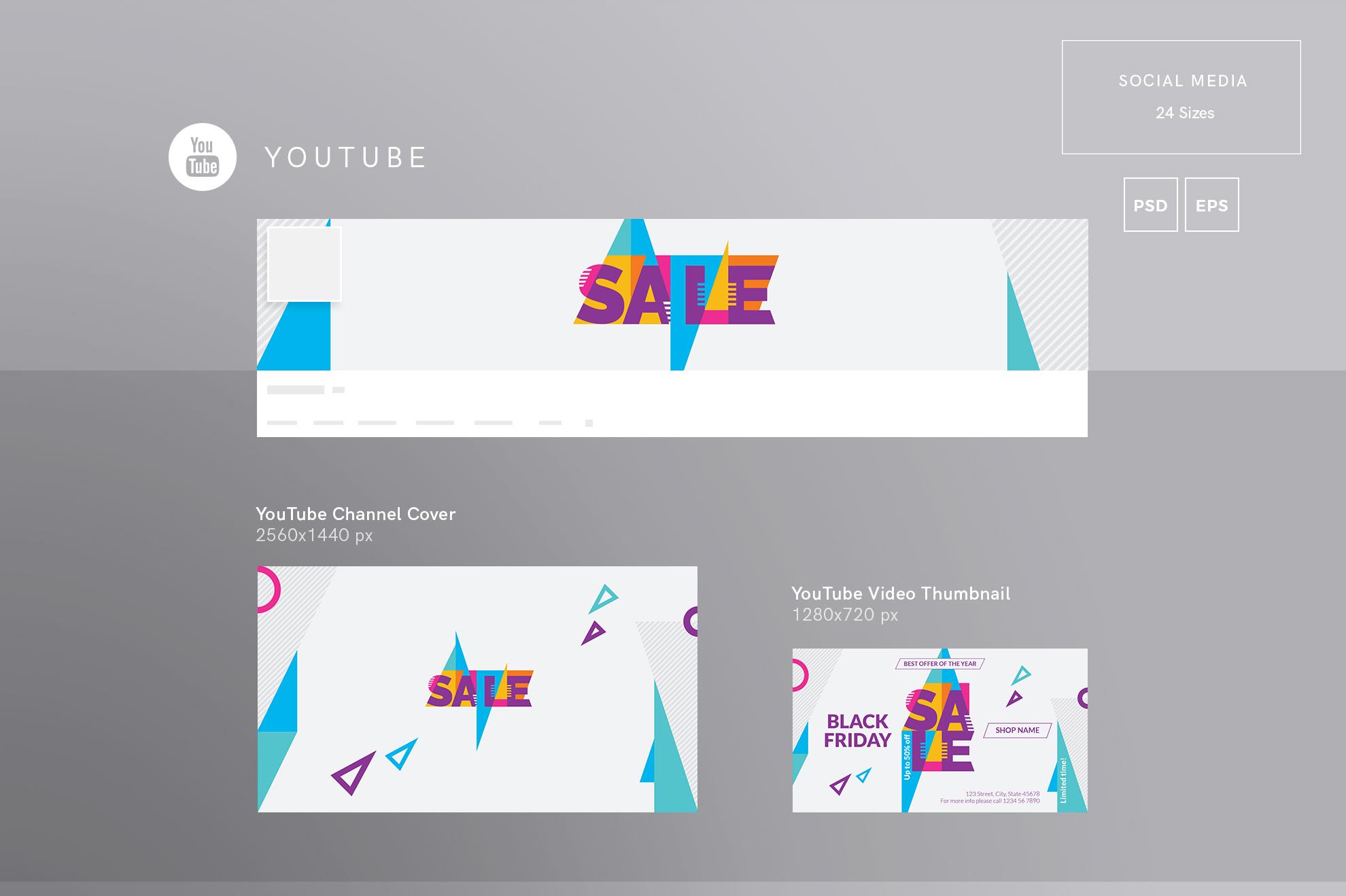 Black Friday Sale Design Templates Bundle example image 7