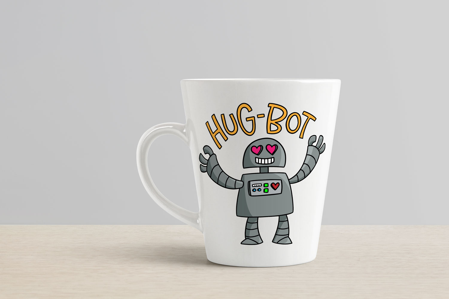 Hug-Bot - a cartoon robot programmed for hugging! example image 3