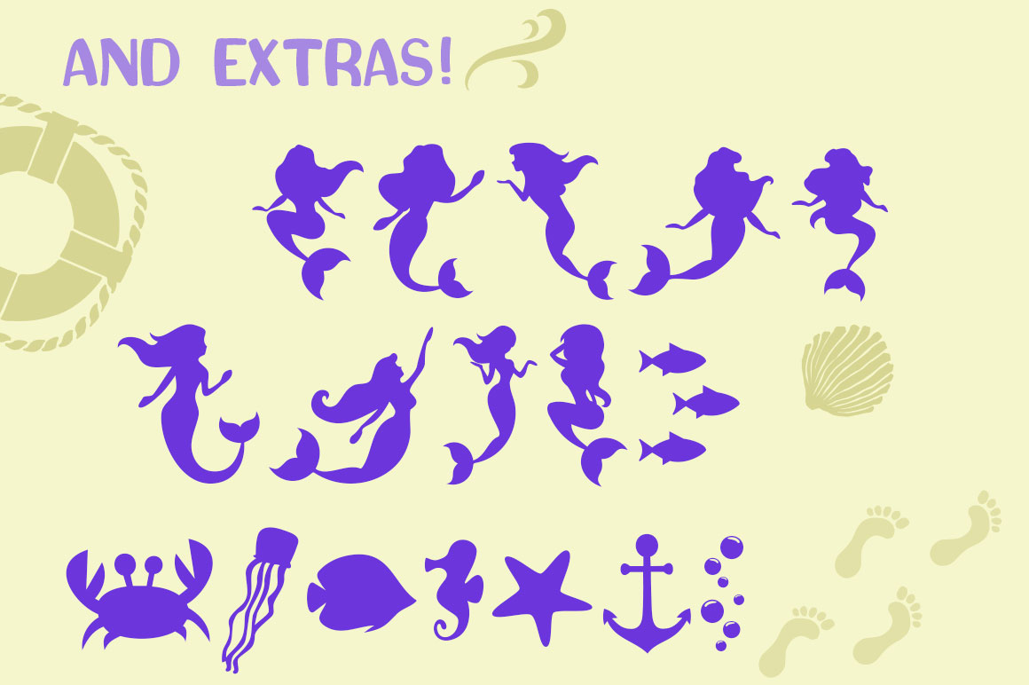 The Mermaid Story Font Duo & Extras example image 3