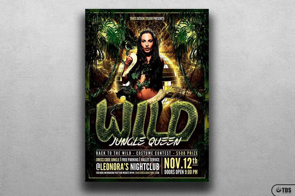 Wild Party Flyer Template example image 1