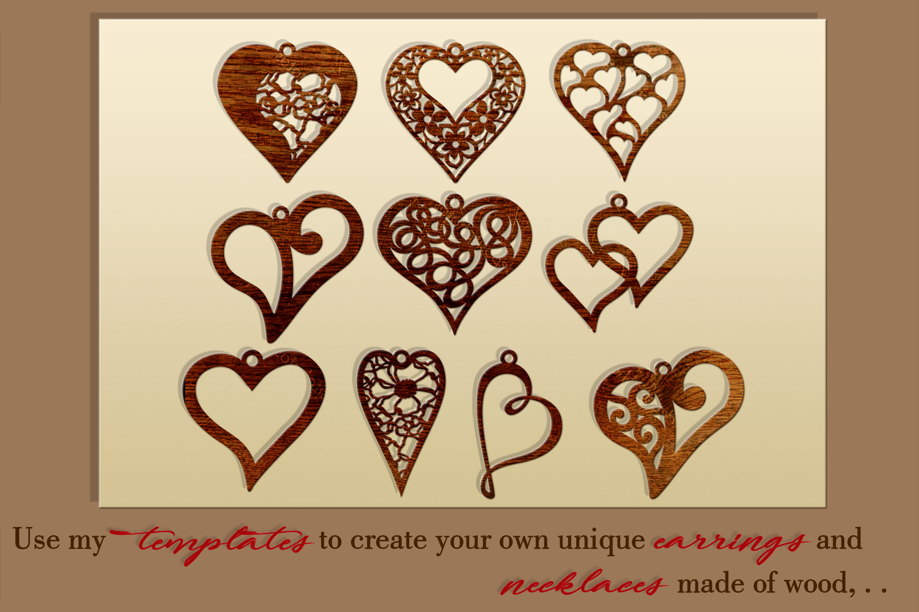 10 Valentine Love earrings svg Leather earrings svg Necklace example image 2