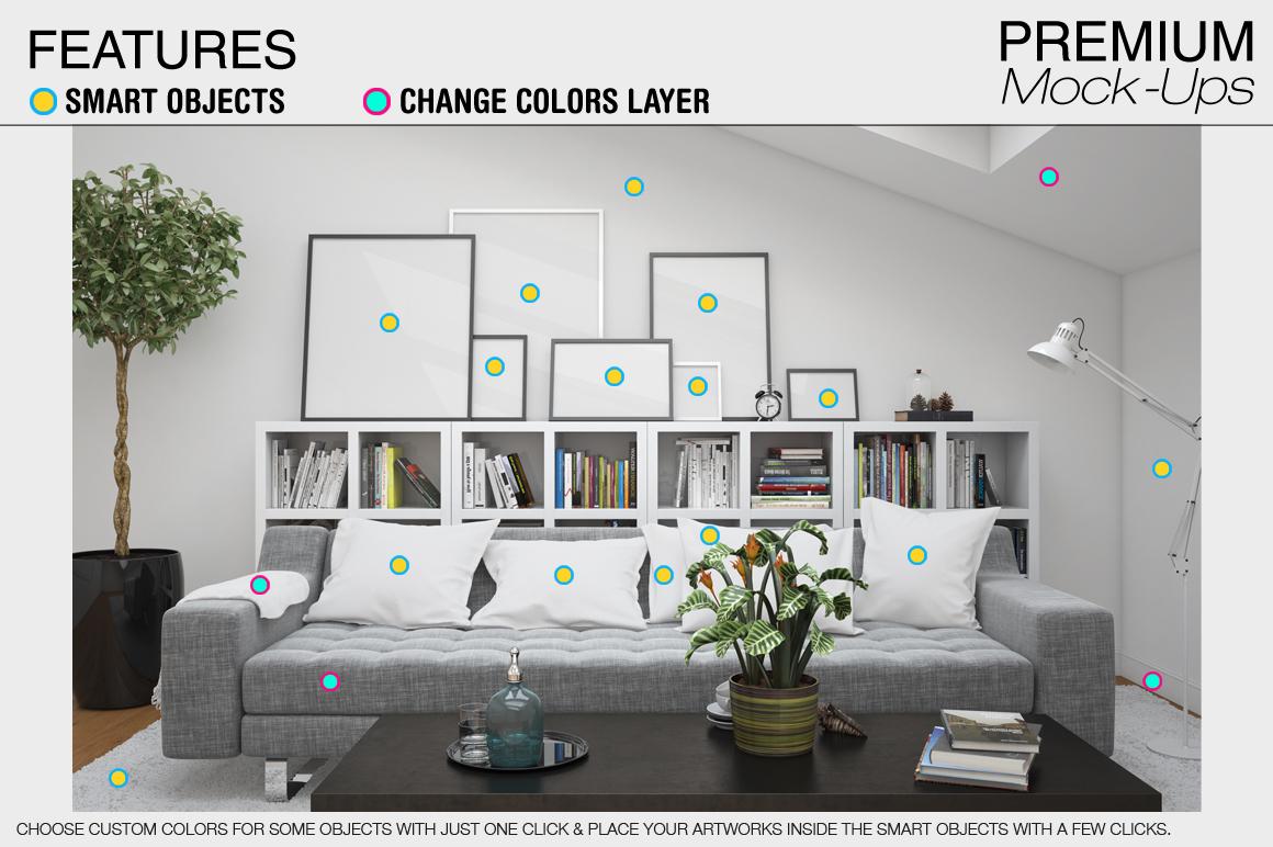 Pillows & Frames Set example image 13