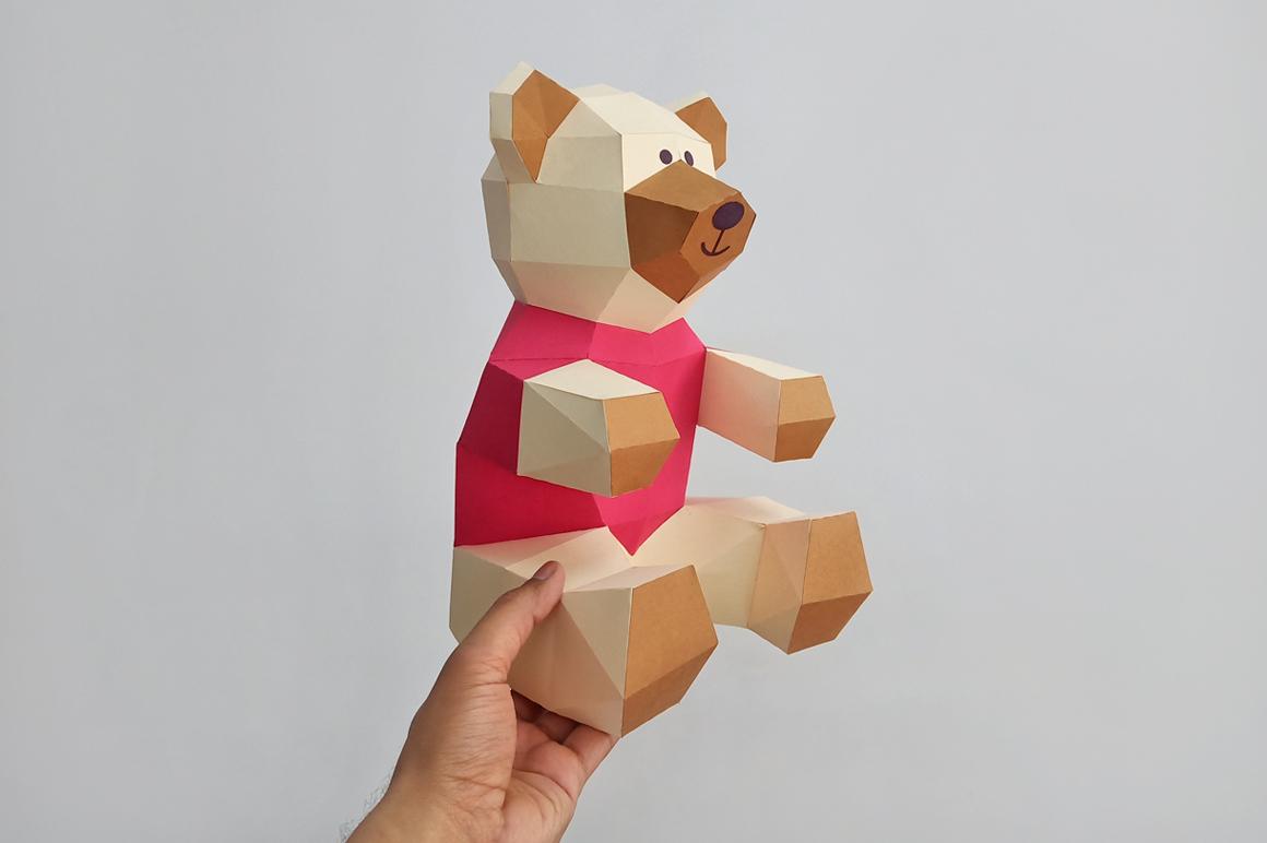 DIY Teddy bear,Papercraft Teddy bear,Paper Bear,Svg files example image 6