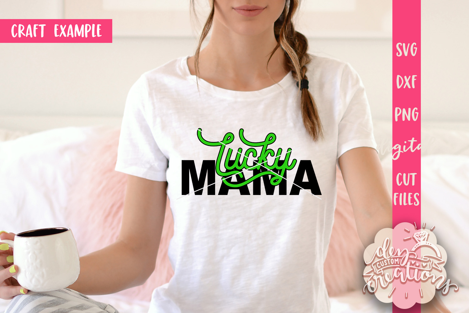 Lucky Mama - SVG DXF PNG Cut files & Clipart example image 2