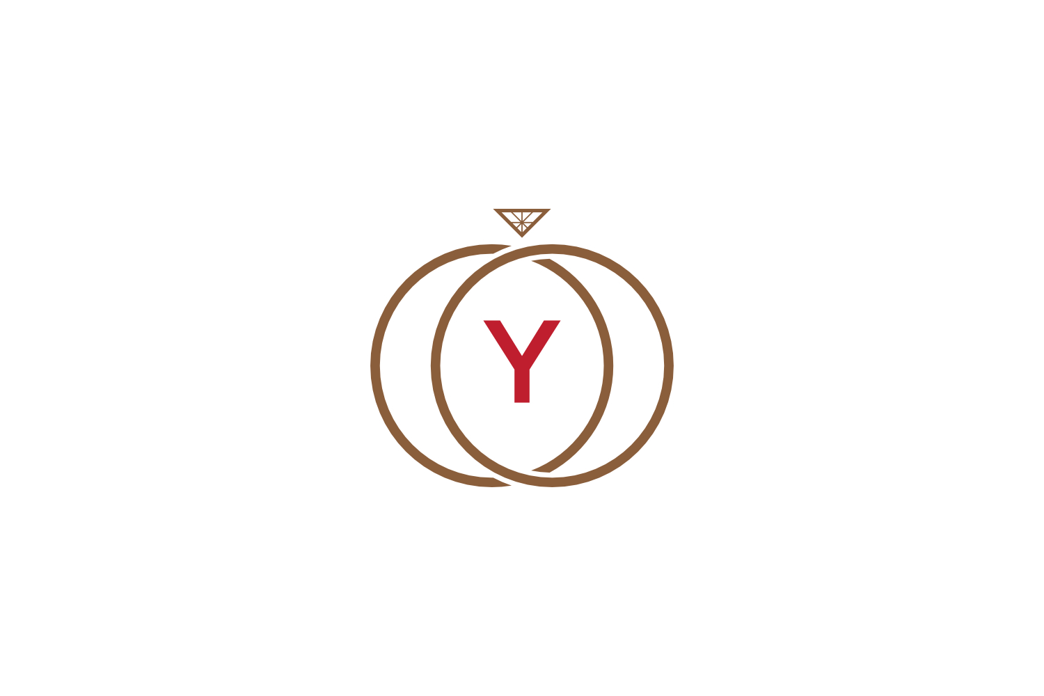 y letter ring diamond logo example image 1