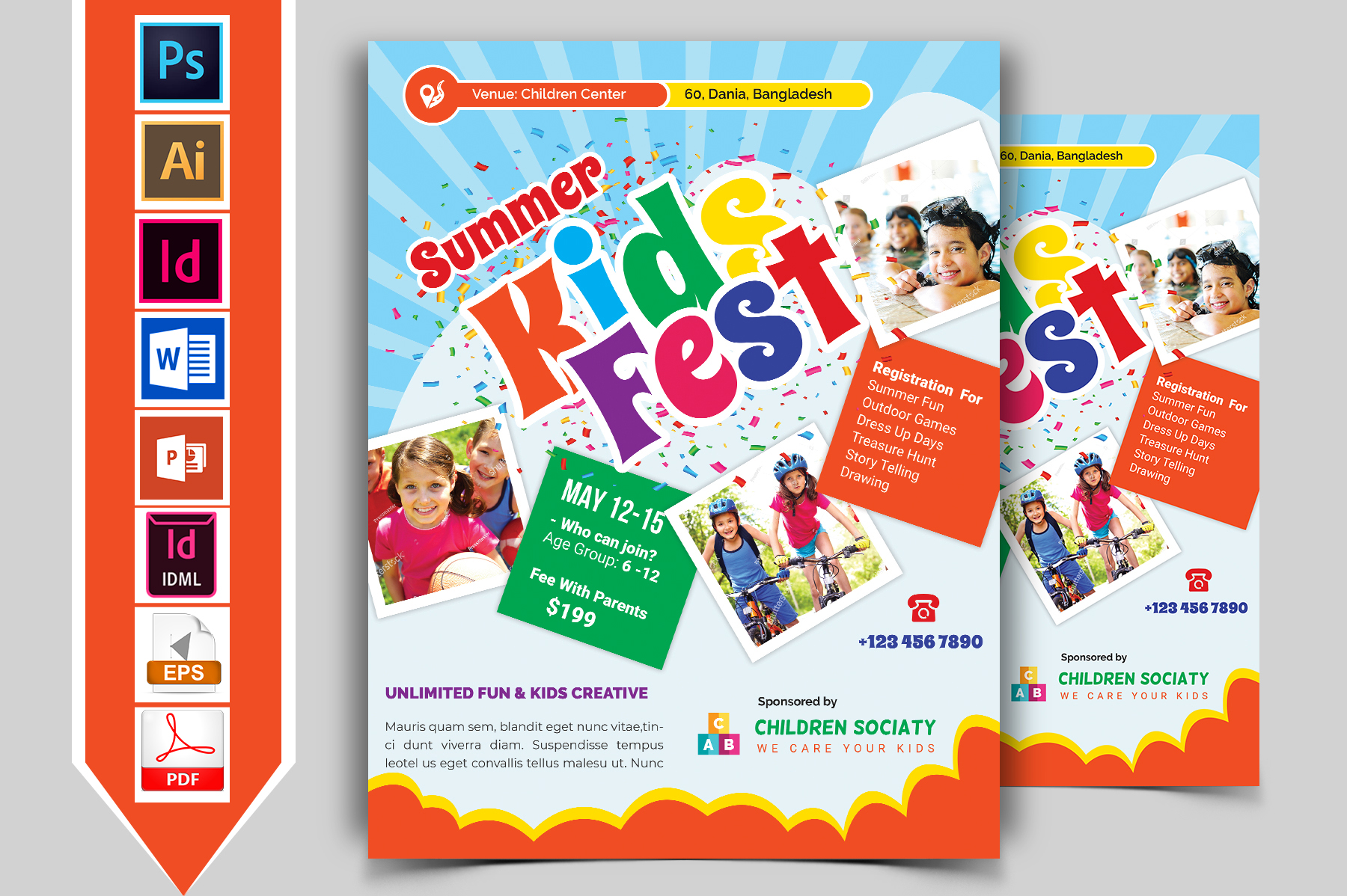 Kids Summer Camp Flyer Vol-01 example image 1