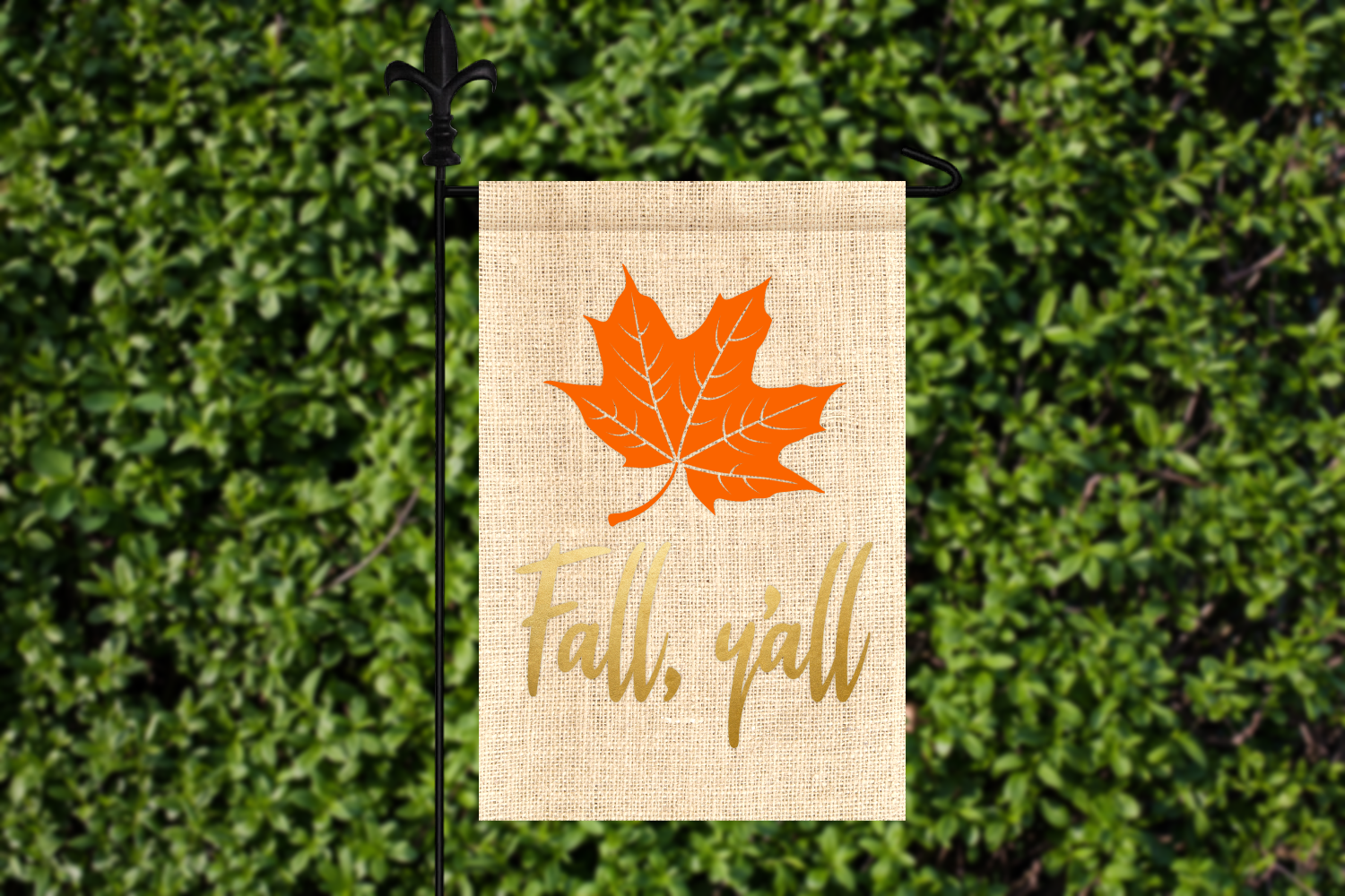 Fall Y'all Leaf SVG File Template example image 1