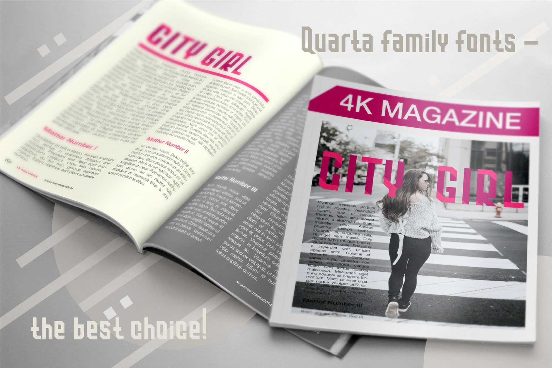 Quarta font family example image 8