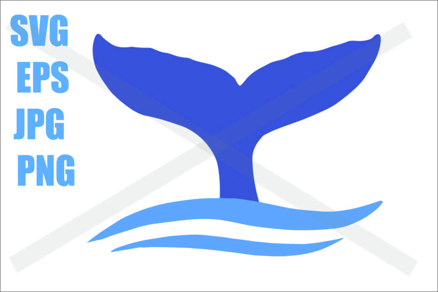 Whale Tail - SVG EPS JPG example image 1