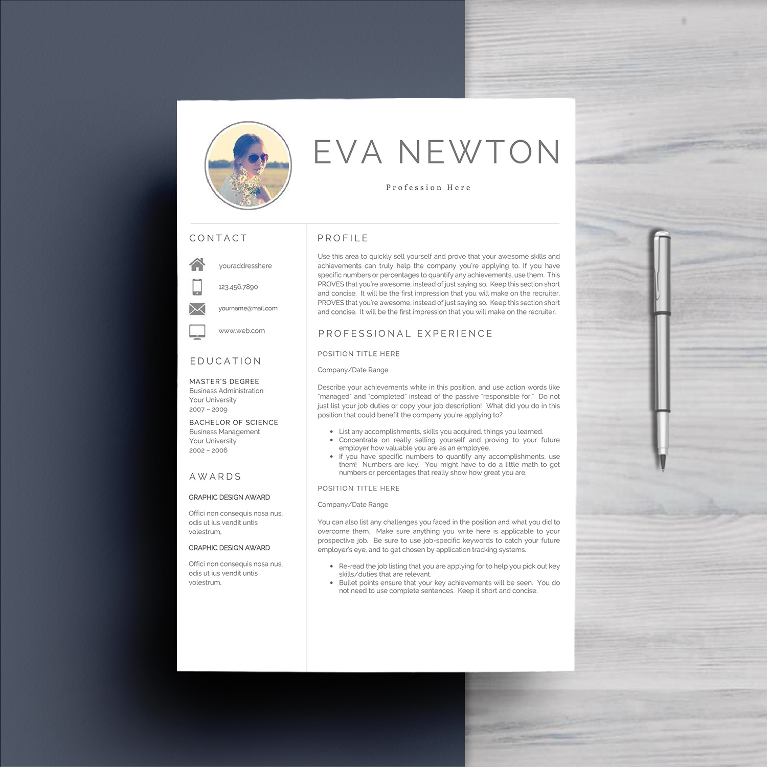 Resume Template 4 Pages example image 2