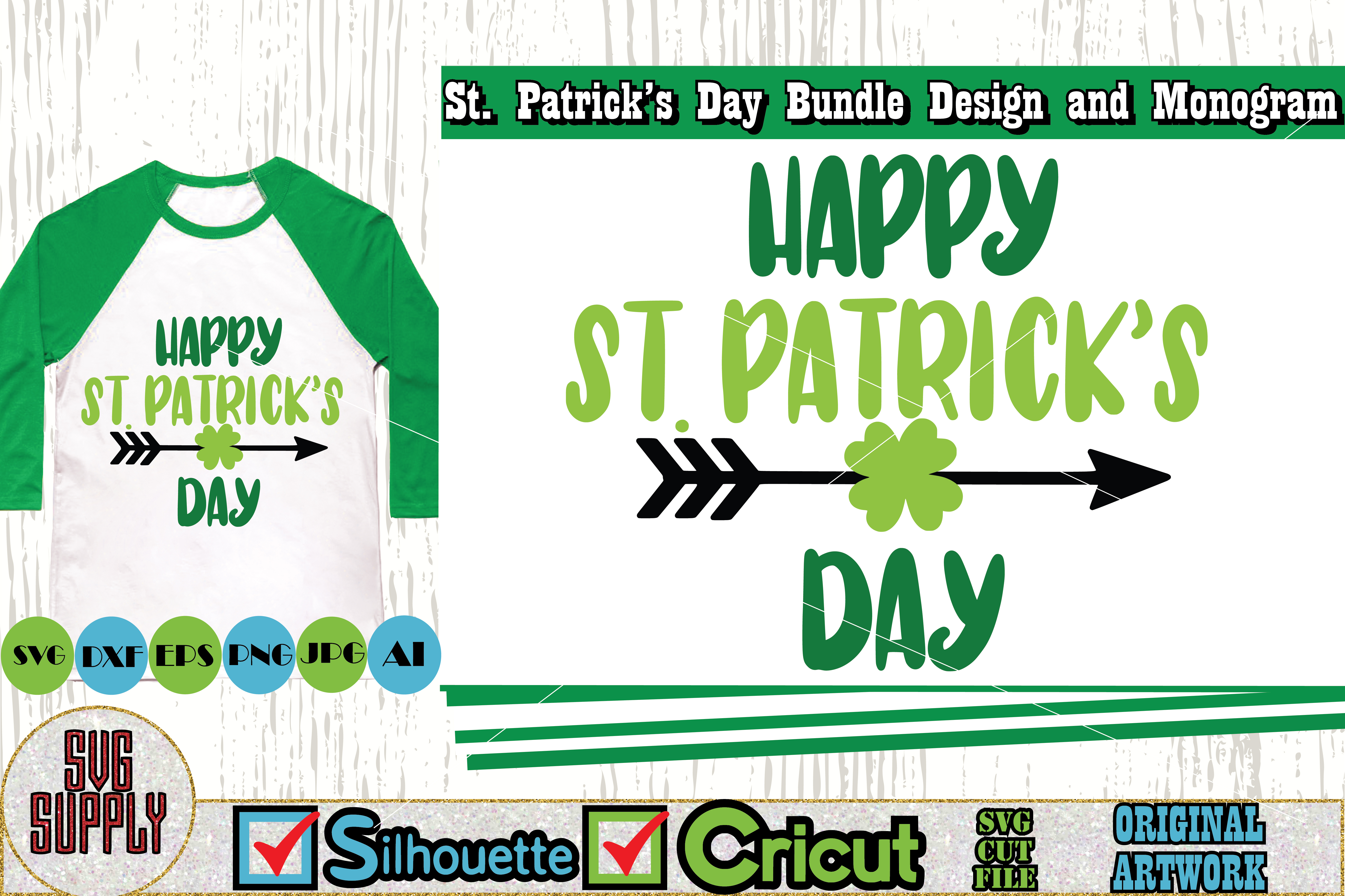 St. Patrick's Day SVG Cut File Set example image 4