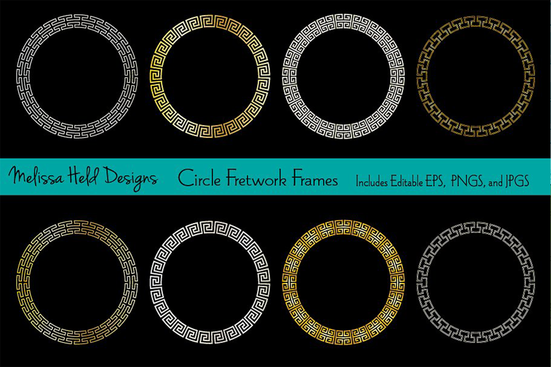 Circle Fretwork Frames example image 1