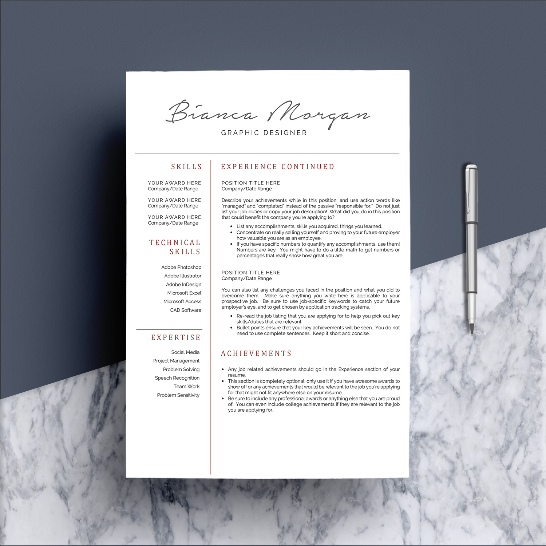 Creative Word Resume Template CV example image 3