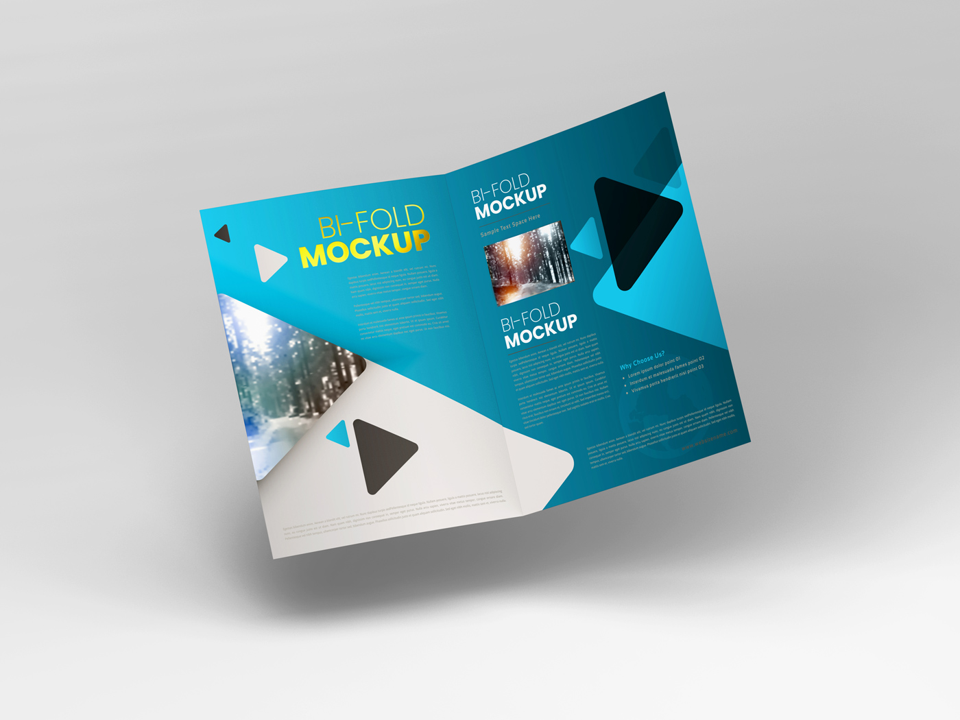A4 Bifold Mockups V2 example image 5